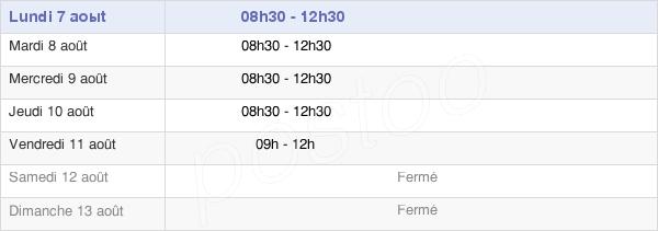 horaires d'ouverture de la Mairie De Saint-Denis