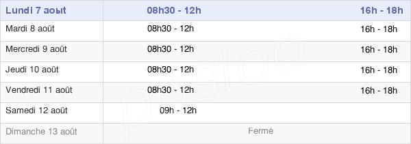 horaires d'ouverture de la Mairie De Conques-Sur-Orbiel