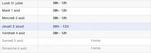 horaires d'ouverture de la Mairie De Pomas