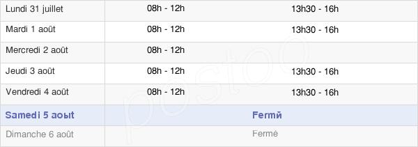 horaires d'ouverture de la Mairie De Saint-Papoul