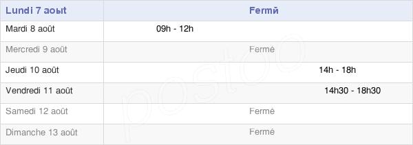 horaires d'ouverture de la Mairie De Saint-Pierre-Des-Champs
