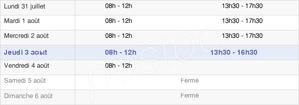 horaires d'ouverture de la Mairie De Quillan