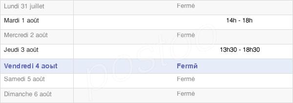 horaires d'ouverture de la Mairie De Tréville
