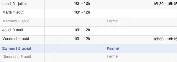 horaires d'ouverture de la Mairie D'Alaigne