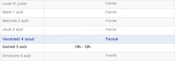 horaires d'ouverture de la Mairie De Mailhac