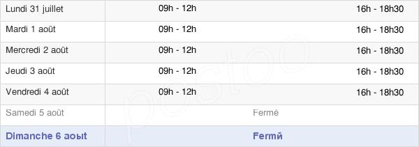 horaires d'ouverture de la Mairie De Villegailhenc