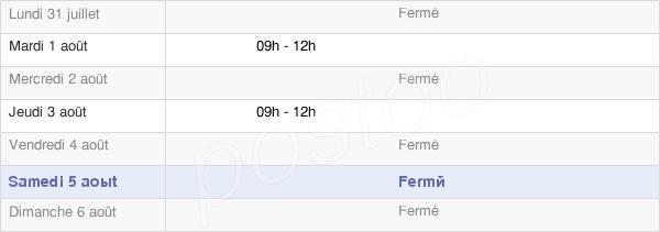 horaires d'ouverture de la Mairie De Soulatgé