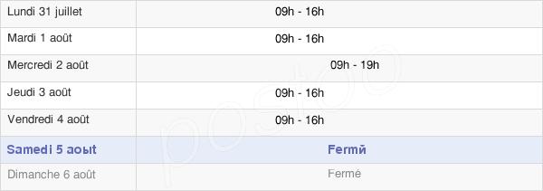horaires d'ouverture de la Mairie De Saint-Nazaire-D'Aude