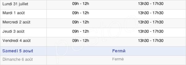 horaires d'ouverture de la Mairie De Moussan
