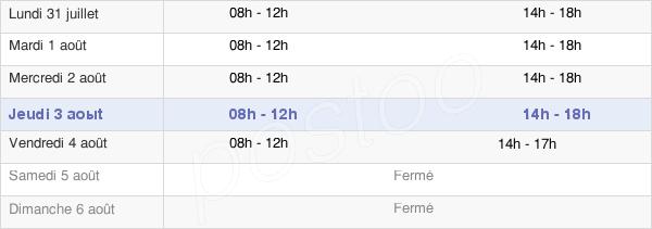horaires d'ouverture de la Mairie De Trèbes