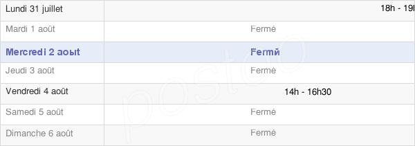 horaires d'ouverture de la Mairie De Tréziers