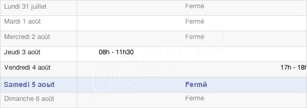 horaires d'ouverture de la Mairie De Saint-Julien-De-Briola
