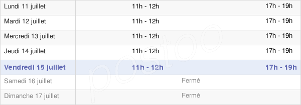horaires d'ouverture de la Mairie D'Homps