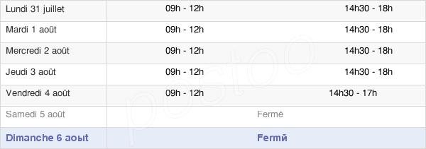 horaires d'ouverture de la Mairie De Saint-Laurent-De-La-Cabrerisse