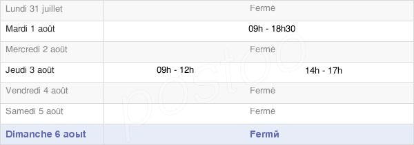 horaires d'ouverture de la Mairie De Caudeval