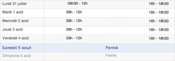 horaires d'ouverture de la Mairie De Luc-Sur-Orbieu
