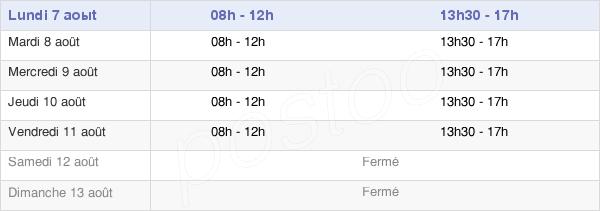 horaires d'ouverture de la Mairie De Saint-Étienne-Du-Grès