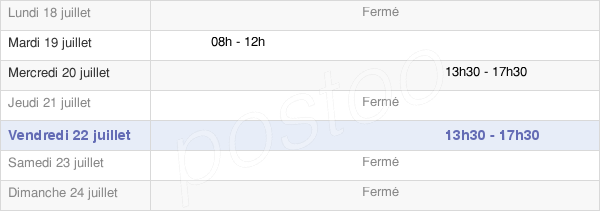 horaires d'ouverture de la Mairie De Caudebronde