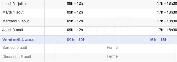 horaires d'ouverture de la Mairie De Villeneuve-Minervois