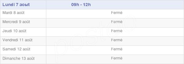 horaires d'ouverture de la Mairie De Clermont-Sur-Lauquet