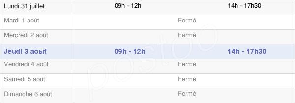horaires d'ouverture de la Mairie De Sainte Colombre Sur Guette