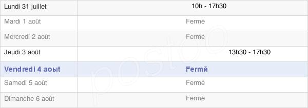 horaires d'ouverture de la Mairie De Souilhe