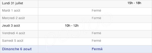 horaires d'ouverture de la Mairie De Lafage