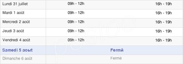 horaires d'ouverture de la Mairie De Ferrals-Les-Corbières