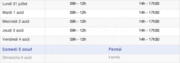 horaires d'ouverture de la Mairie De Sigean
