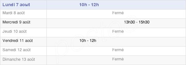 horaires d'ouverture de la Mairie De Saint-Frichoux