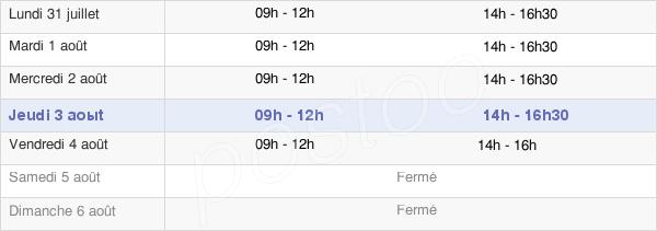 horaires d'ouverture de la Mairie De Liernais