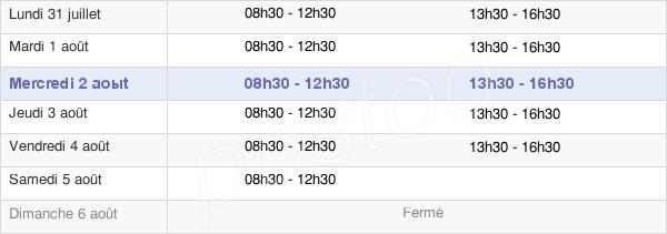 horaires d'ouverture de la Mairie D'Aubagne