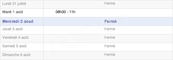 horaires d'ouverture de la Mairie De Culètre