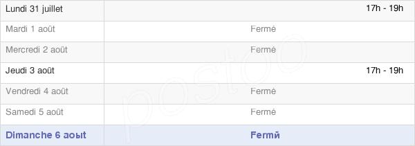 horaires d'ouverture de la Mairie D'Étrochey