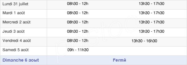 horaires d'ouverture de la Mairie De Saint Rémy De Provence