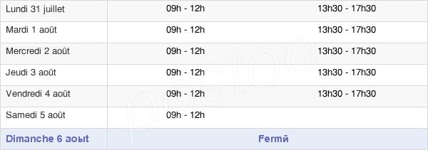 horaires d'ouverture de la Mairie De Semur-En-Auxois