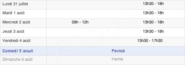 horaires d'ouverture de la Mairie De Sennecey-Lès-Dijon