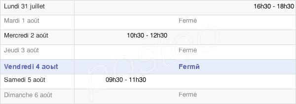 horaires d'ouverture de la Mairie De Saulon-La-Rue