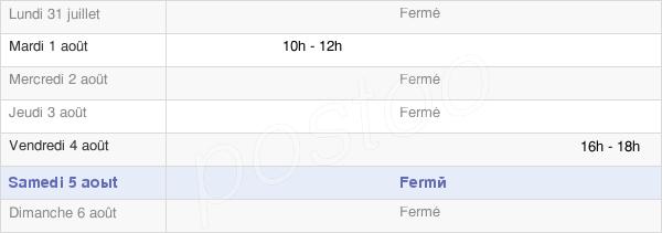 horaires d'ouverture de la Mairie De Boncourt-Le-Bois