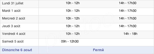 horaires d'ouverture de la Mairie de Venarey-les-Laumes
