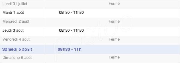 horaires d'ouverture de la Mairie De Franxault