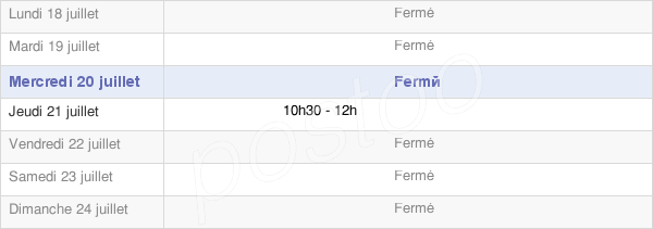 horaires d'ouverture de la Mairie De Cuiserey