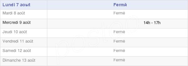 horaires d'ouverture de la Mairie De Poinçon-Lès-Larrey