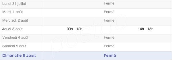 horaires d'ouverture de la Mairie De Champ-D'Oiseau