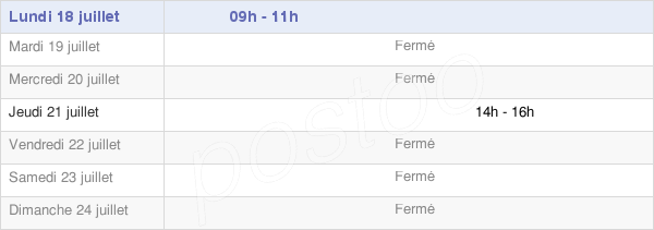 horaires d'ouverture de la Mairie De Cirey-Lès-Pontailler