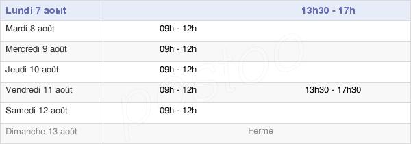 horaires d'ouverture de la Mairie De Losne
