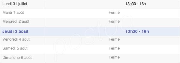 horaires d'ouverture de la Mairie De Semarey