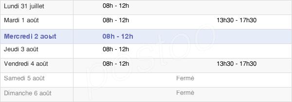 horaires d'ouverture de la Mairie De Pontailler-Sur-Saône