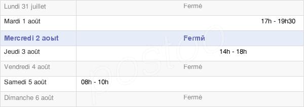 horaires d'ouverture de la Mairie De Mont-Saint-Jean