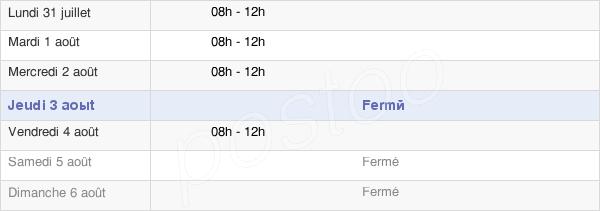 horaires d'ouverture de la Mairie De Binges